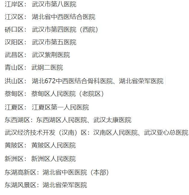 武汉市公布新冠肺炎康复期患者定点医院名单  第2张