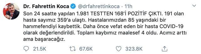 土耳其前陆军司令感染新冠肺炎去世,报确诊数才359例……  第3张