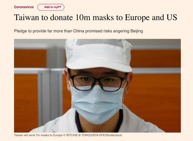 一只都不给大陆的蔡英文给欧美捐1000万只口罩,她想多了吧?