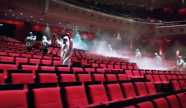 武汉琴台大剧院上演消杀大片