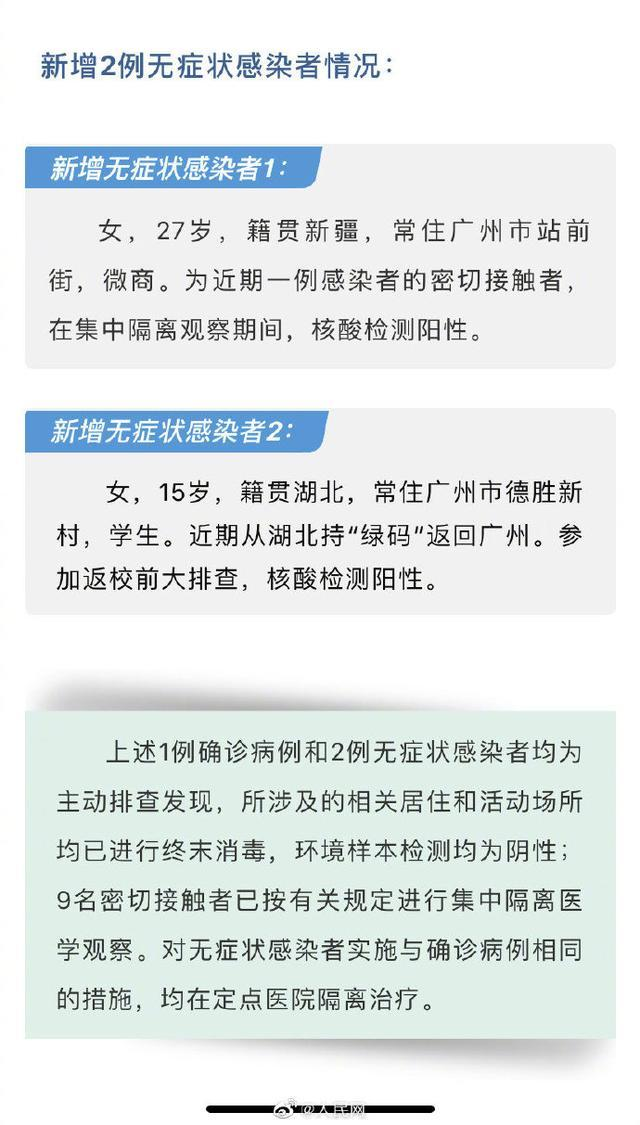 """广州25日新增无症状感染者2例 其中1例持湖北省""""绿码"""""""