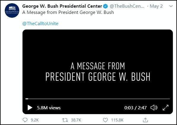 特朗普怒喷小布什:我被弹劾的时候你在哪呢?