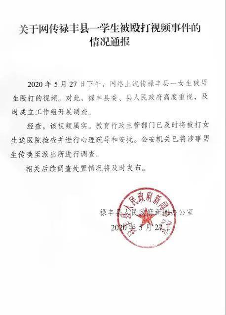 云南省禄丰12岁女生被多位男孩子施暴视頻,通告来啦  第3张