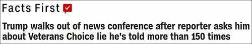 """川普又在记者招待会上""""车翻""""居然被美女记者气离开了  第1张"""