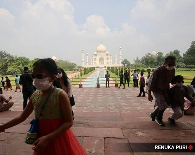 印度媒体:在印度严格防范中国人之前,中国游客现在是第一个参观泰姬陵的  第3张