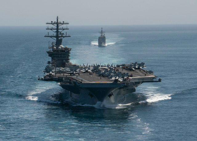 美国航空母舰攻击该组织进入波斯湾,伊朗海军指挥官警告说,如果有必要,它将瞄准  第3张