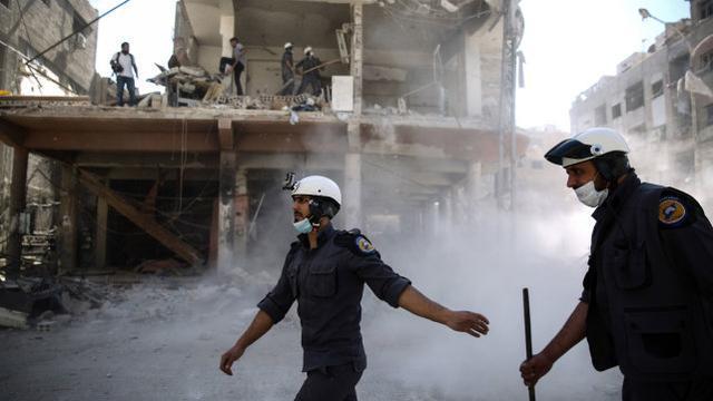 """叙利亚政府:恐怖分子和""""白盔""""指责政府导致了武侠片的演变"""