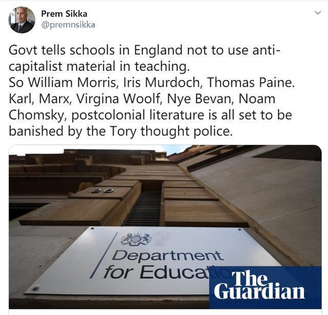 """看看英国人的弦有多紧:学校不能教""""反资本主义""""的内容  第4张"""