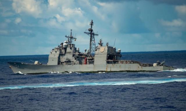 躲在第一岛链外面恐吓中国?里根号航母战斗群在菲律宾海域高调演习  第2张
