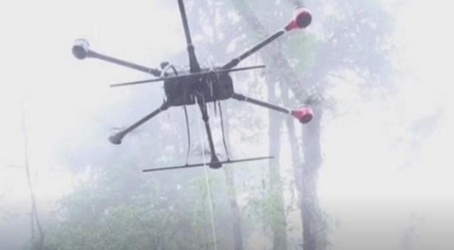 第一架无人机在西藏梅多格哨所空投物资!  第1张