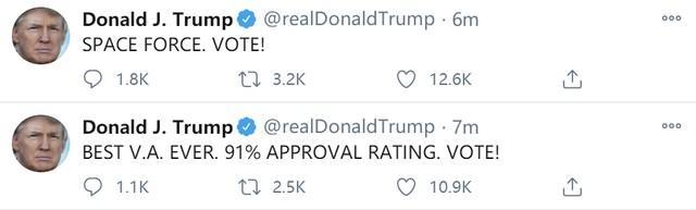 """特朗普早上6点突然刷屏为自己拉票,发了15张""""票!""""  第6张"""