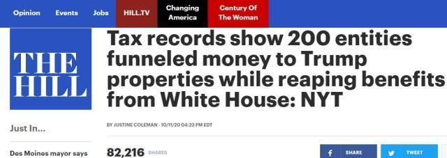 美国媒体爆出特朗普涉嫌以权谋私的新闻,他的儿子反驳:他必须与整个媒体抗争  第1张