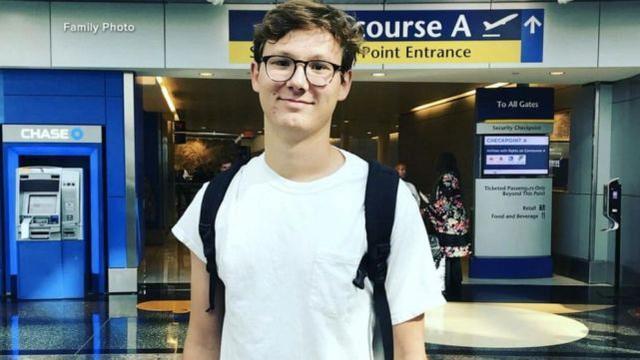 美国大学生在参观纽约时被流弹杀死。家人说这次旅行是他的梦想