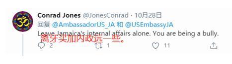 美国驻牙买加大使抹黑华为5G侮辱网友,被炮轰后删除文字  第2张