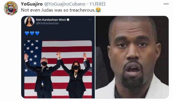 """卡戴珊祝贺拜登获胜,美国网友:背叛了战败的""""爷爷""""  第2张"""