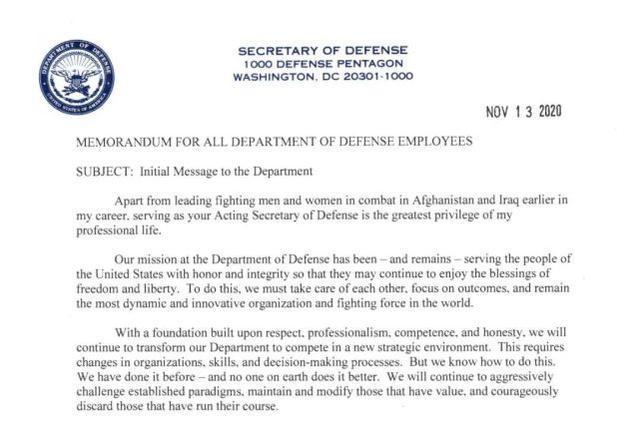 代理美国国防部长:所有战争必须结束。现在该回家了。  第2张