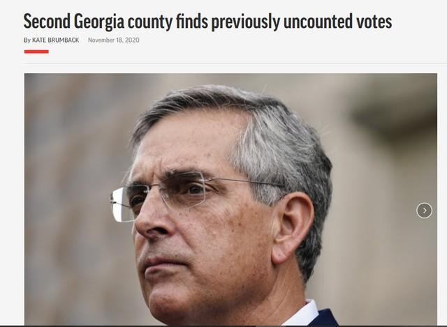 乔治亚发现选票又少了!  第1张