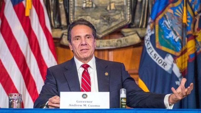 新冠肺炎的病例激增,纽约州重新启动了一家野战医院,可容纳数百名患者。