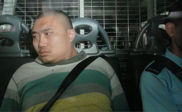 """""""王展画家""""因向香港警察总部扔鸡蛋被判入狱21个月。"""