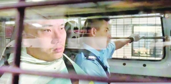 """""""王展画家""""因向香港警察总部扔鸡蛋被判入狱21个月。  第3张"""