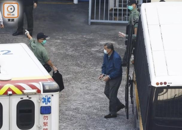 黎智英被拘留的照片曝光了。  第1张