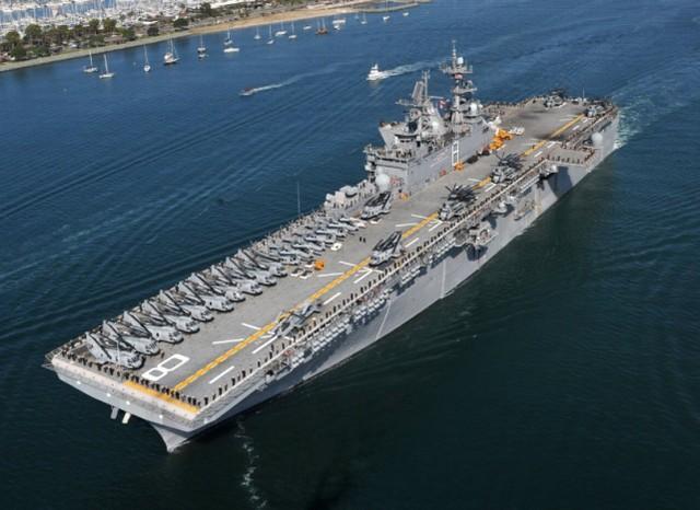 """美军""""马金道""""两栖警戒群分两路进入南海。  第2张"""
