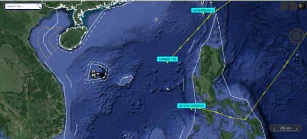 """美军""""马金道""""两栖警戒群分两路进入南海。  第1张"""