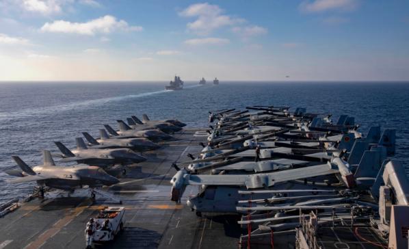 """美军""""马金道""""两栖警戒群分两路进入南海。  第3张"""