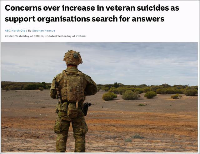 """澳大利亚士兵自杀,但澳大利亚媒体声称战争罪调查是""""主要压力源""""之一。  第1张"""