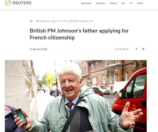 英国首相的父亲:我要入籍法国,成为法国人。  第1张