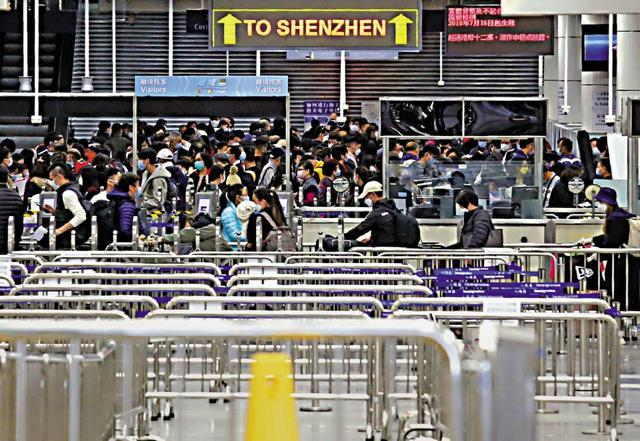 香港人回内地过春节爆炸深圳湾,深圳市民:希望香港疫情早日控制。  第1张